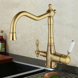 GAPPO G4391-4 смеситель для кухни с подключением фильтра питьевой воды, бронза Цена, в руб.: 6058