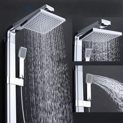 GAPPO G2401 душевая стойка с верхним душем, ручной лейкой, матовый/хром Цена, в руб.: 5704