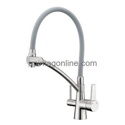 Сантехника и водоснабжение :: Смесители :: Для кухни :: с гибким изливом :: G4398-17 GAPPO Смеситель для кухни с подключением фильтра питьевой воды