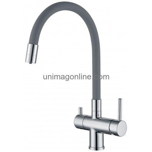 Сантехника и водоснабжение :: Смесители :: Для кухни :: с гибким изливом :: G4398-30 GAPPO Смеситель для кухни с подключением фильтра питьевой воды